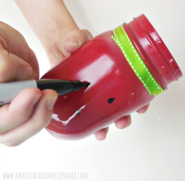 add watermelon seeds with sharpie