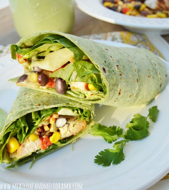grilled chicken wrap with buttermilk dressing