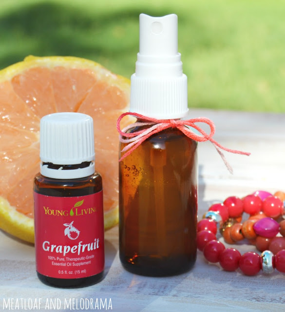 grapefruit body spray made with young living grapefruit essential oil