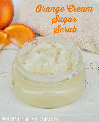 diy orange cream sugar scrub