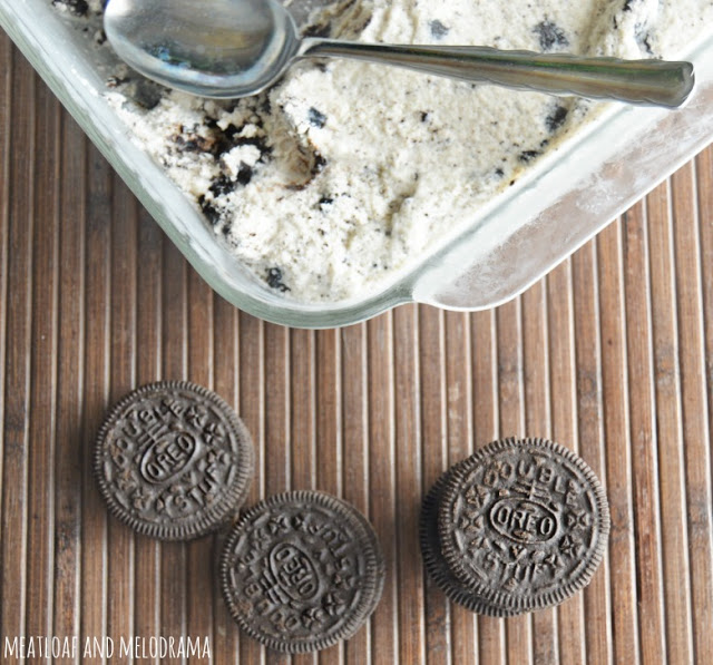 OREO cookies and homemade OREO ice cream