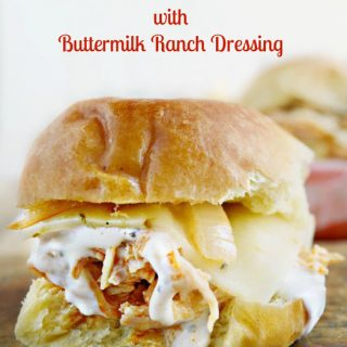 Crock-Pot Buffalo Chicken Sliders with Buttermilk Ranch Dressing