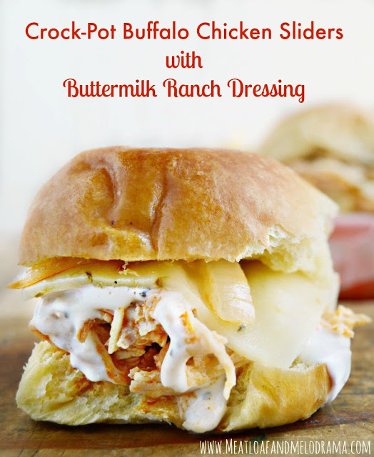 Crock-Pot Buffalo Chicken Sliders with Buttermilk Ranch ...