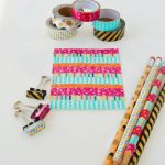 How to Decorate School Supplies with Washi Tape