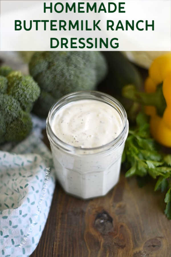 Homemade Buttermilk Ranch Dressing Recipe