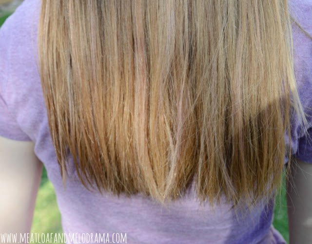 blond hair with light purple tips