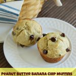 Peanut Butter Banana Chip Muffins