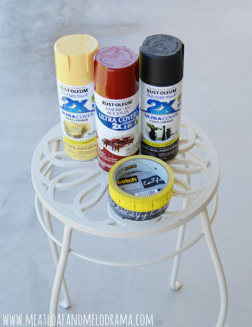 rust-oleum spray paint and decorated scotch tape