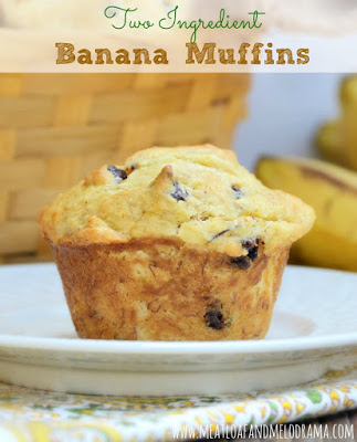 2 ingredient banana muffins