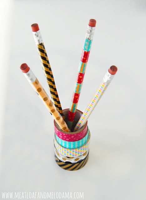 washi tape pencils
