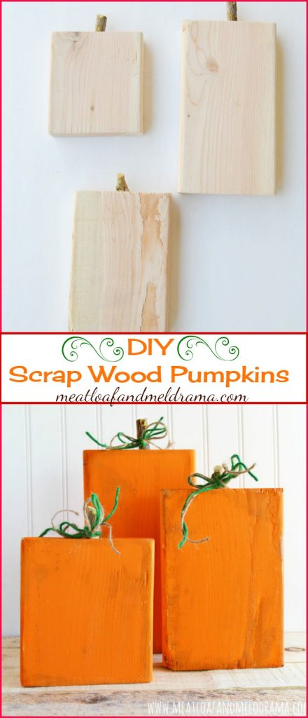 DIY Rustic Scrap Wood Pumpkins