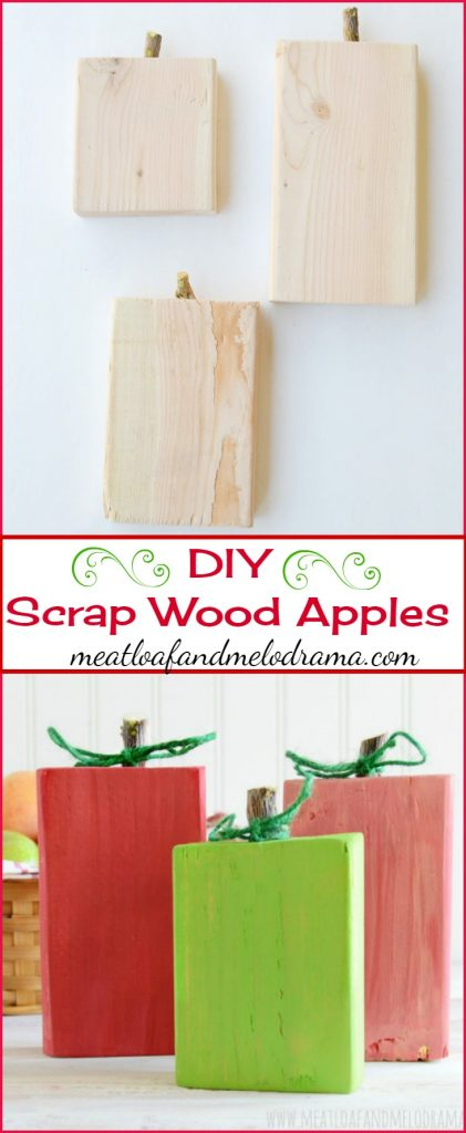 DIY Scrap Wood Apples craft