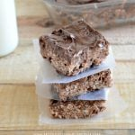 No Bake Chocolate Peanut Butter Crispy Bars