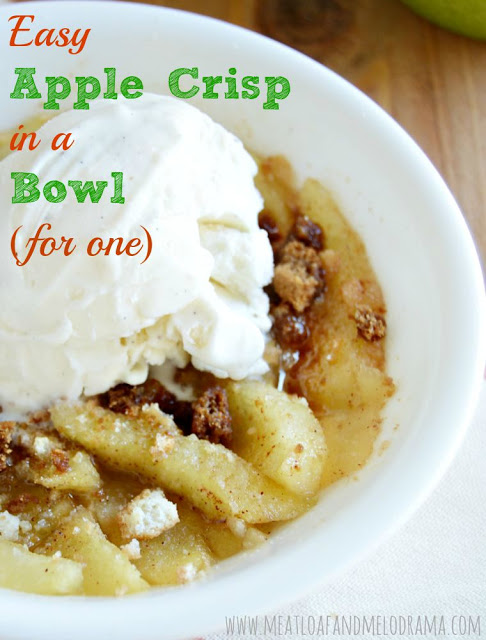 Easy Apple Crisp in a Bowl - Meatloaf and Melodrama