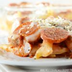 Pizza Pasta Bake with Pepperoni and Sausage