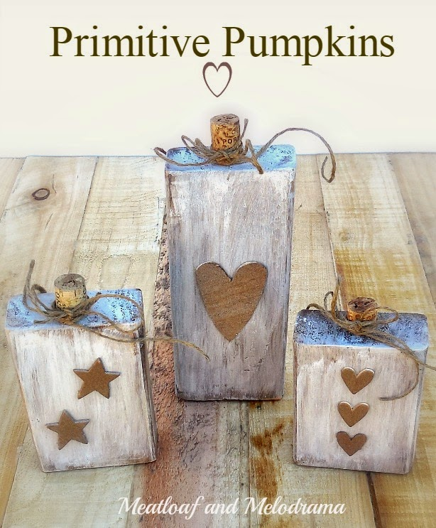 primitive wood pumpkins