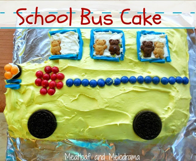 school bus cake for back to school party