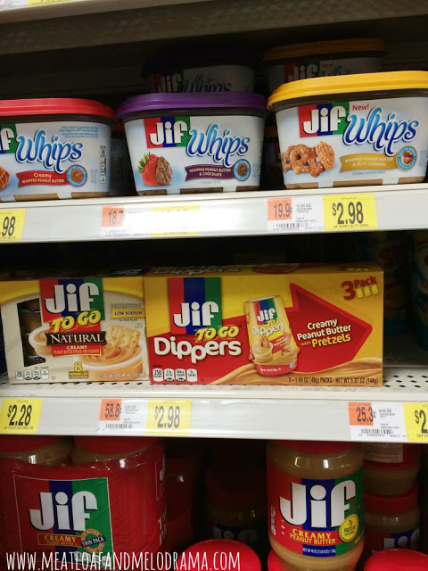 jif products for snacking on walmart shelf