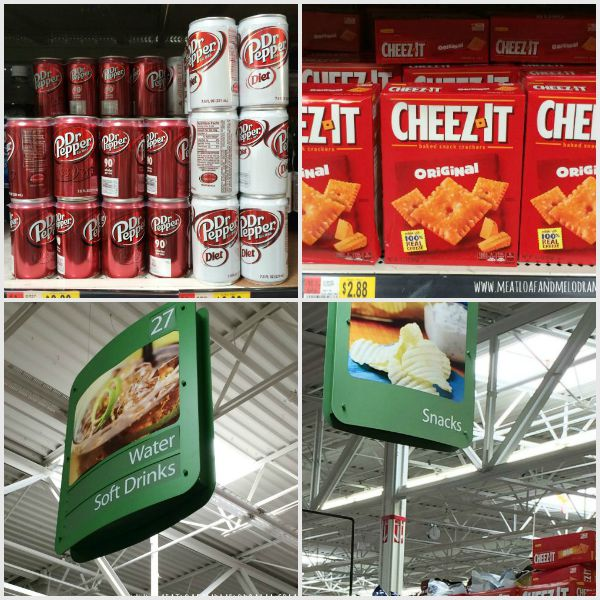 #shop Dr Pepper and Cheez-It aisle at Walmart