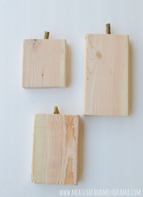 2x6 wood blocks with stems