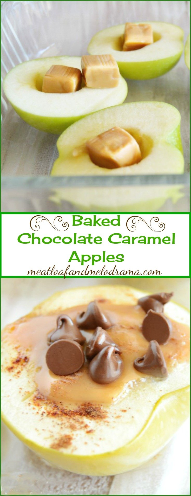 Baked Chocolate Caramel Apples