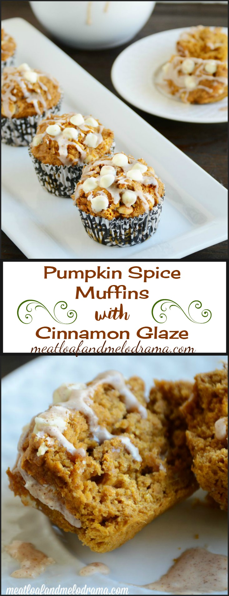 Pumpkin Spice Muffins with Cinnamon Glaze - Meatloaf and ...
