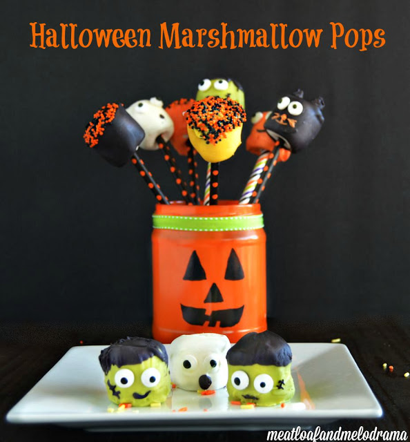 How to make Halloween Marshmallow pops characters