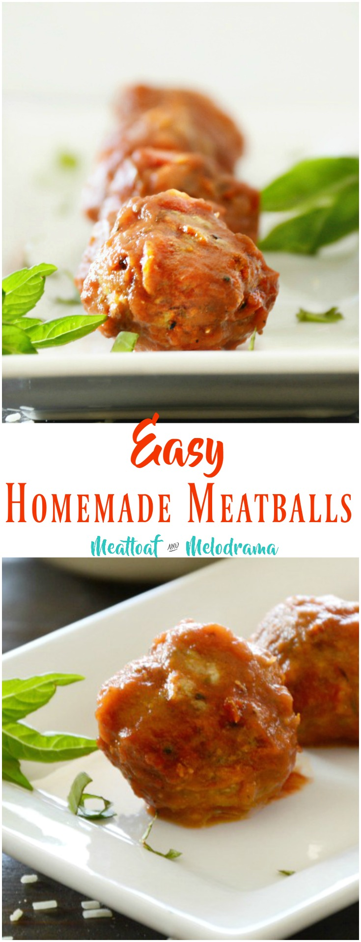 Homemade Meatballs - Meatloaf and Melodrama
