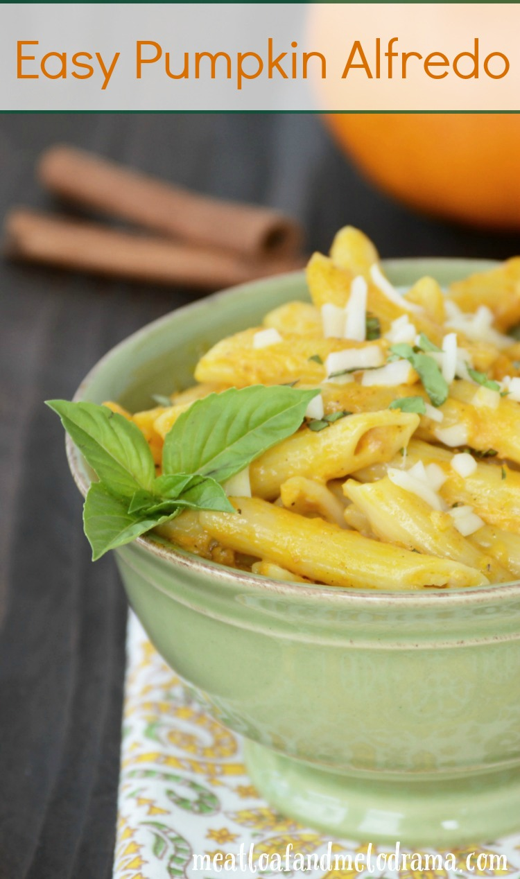 We sometimes serve this easy pumpkin Alfredo with either chicken or ...
