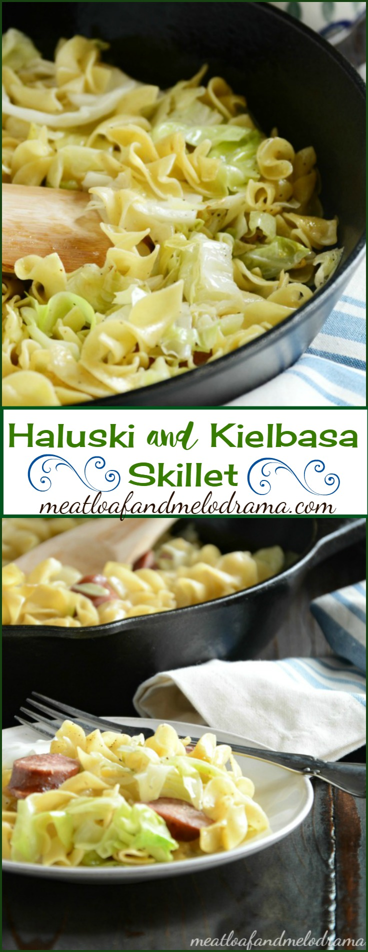 Haluski and Kielbasa - Fried Noodles and Cabbage with Polish Sausage