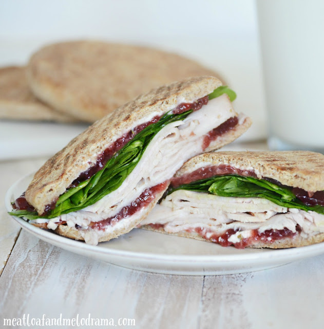 Turkey, Cranberry and Cream Cheese Sandwich - Meatloaf and ...