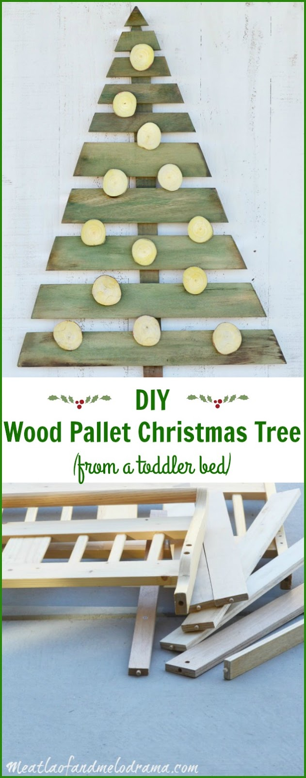 pallet tree from toddler bed tutorial pin