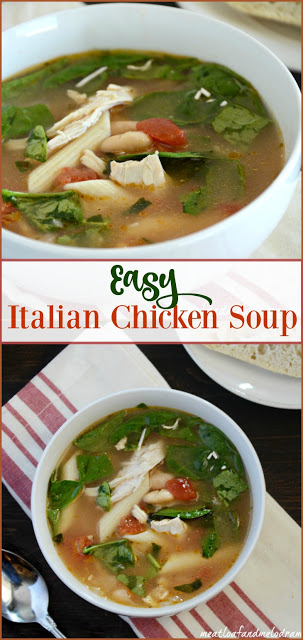 Easy Italian Chicken Soup - Meatloaf and Melodrama