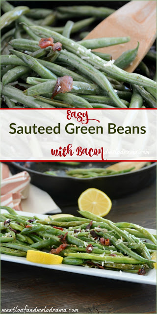Easy Sauteed Green Beans with Bacon and Parmesan