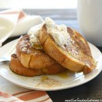 Eggnog French Toast with Cinnamon Whipped Cream