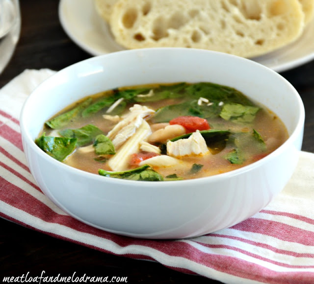 recipe-for-Italian-style-chicken-soup-with-tomatoes-beans-spinach