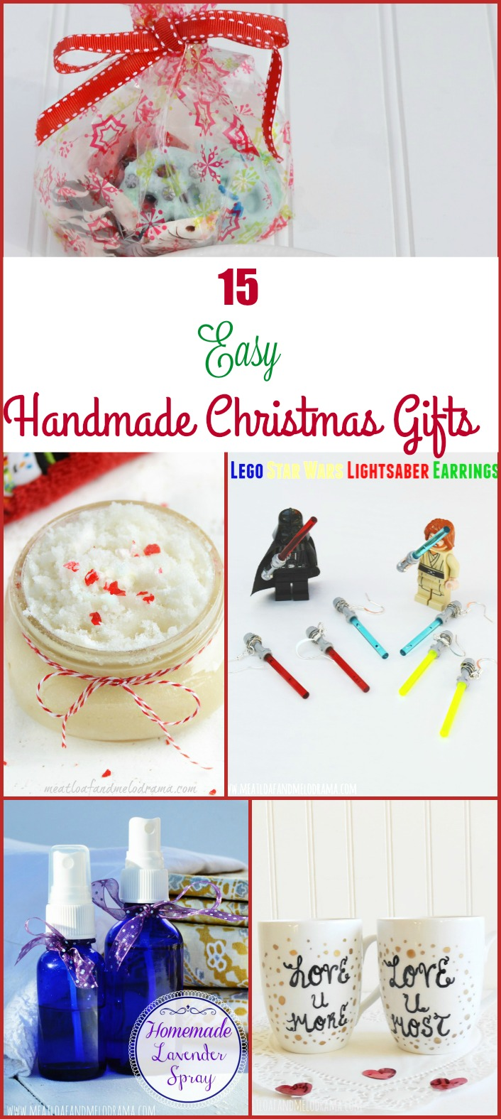 15 Easy Handmade Christmas Gift Ideas - Meatloaf and Melodrama
