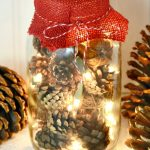 Lighted Christmas Potpourri Jar