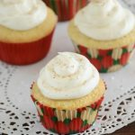 Eggnog Cupcakes with Eggnog Buttercream Frosting