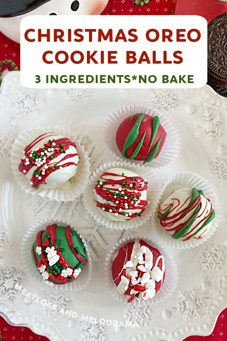 OREO Cookie Balls are 3 ingredient no bake dessert treats that are delicious and super easy to make. Decorate for Christmas or any holiday!