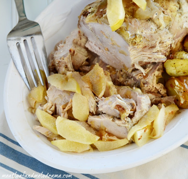 Crock-Pot Pork Roast with Apples and Onions - Meatloaf and Melodrama
