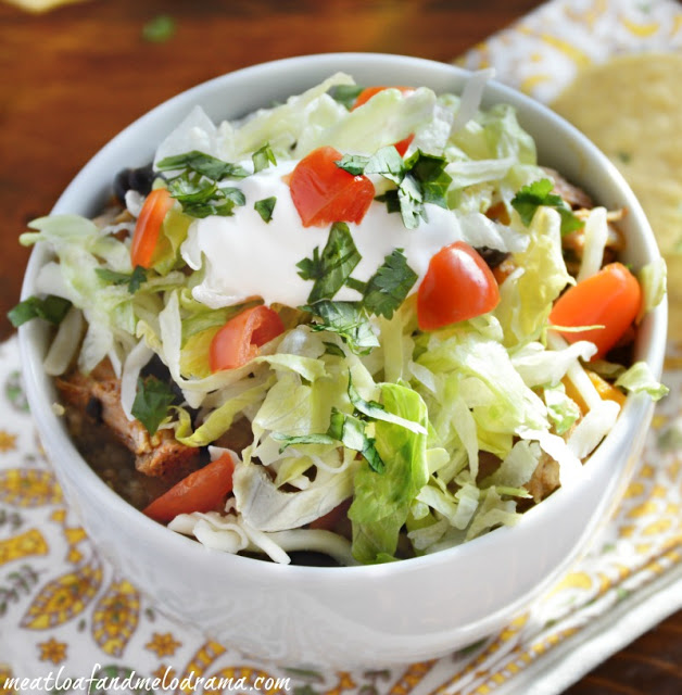 burrito-bowl-made-with-leftover-crock-pot-pork-roast-recipe