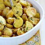 Easy Roasted Potatoes with Basil and Parmesan