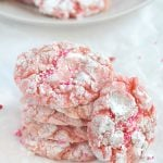 strawberry-crinkle-valentine-cookies