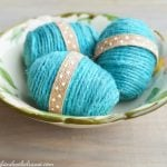 DIY Twine Covered Easter Eggs