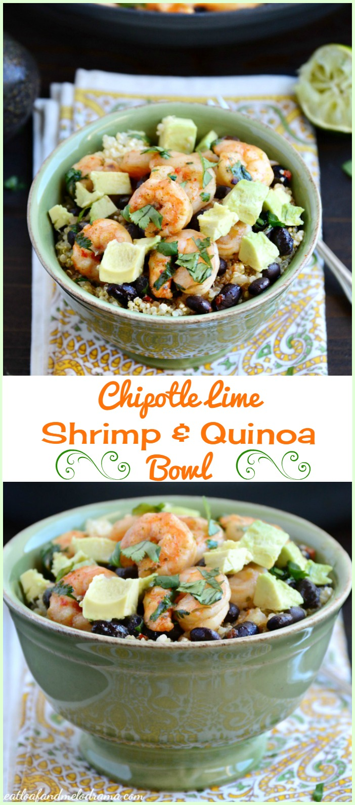 Chipotle Lime Shrimp and Quinoa Bowl - Meatloaf and Melodrama