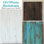 DIY Photo Backdrops for Food and Craft Blogs