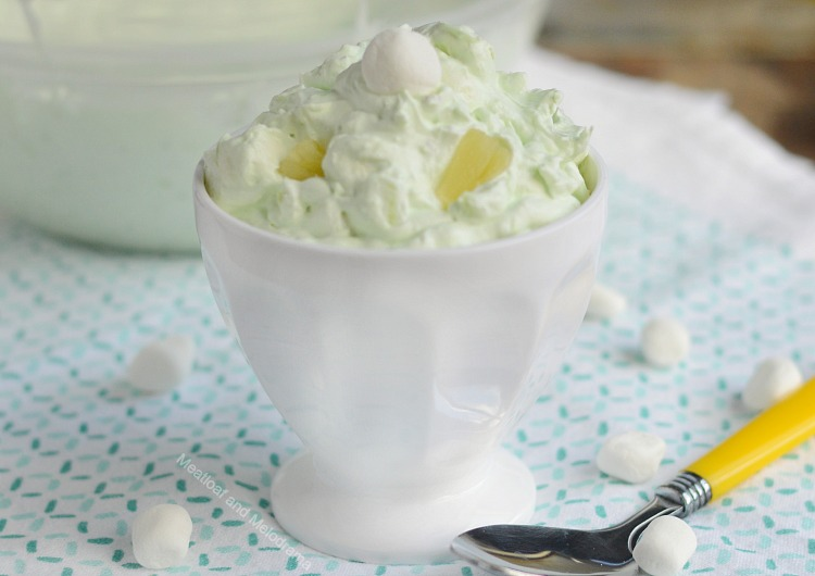 pistachio salad or watergate salad with marshmallows