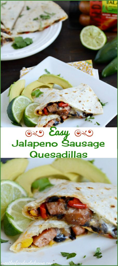 easy jalapeno sausage quesadillas collage