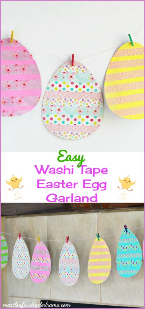 easy washi tape Easter egg garland